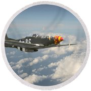 P51 Mustang - 'old Crow' Round Beach Towel