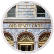 Old Ebbitt Grill Round Beach Towel