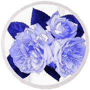 Round Beach Towel featuring the photograph Old Fashioned Roses by Jane McIlroy