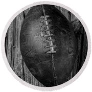 Old Football Round Beach Towel
