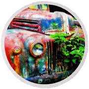 Old Ford #2 Round Beach Towel