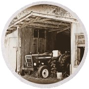 Round Beach Towel featuring the photograph Old Ford by Faith Williams