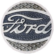 Old Ford Symbol Round Beach Towel
