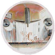 Old Ford Truck - Photopower Round Beach Towel by Pamela Critchlow