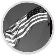Round Beach Towel featuring the photograph Old Glory by Ron White