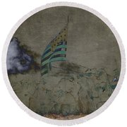 Old Glory Standoff Round Beach Towel by Wes and Dotty Weber