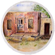 Old House In Clovis Nm Round Beach Towel by Vicki  Housel