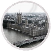 Old London .. New London Round Beach Towel
