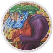 Old Man Collecting Sticks - But Not On The Sabbath Round Beach Towel