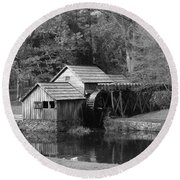 Virginia's Old Mill Round Beach Towel