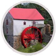 Round Beach Towel featuring the photograph Old Mill Of Guilford by Sandi OReilly