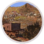 Old Mining Town No.24 Round Beach Towel