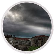 Old Monastery Round Beach Towel