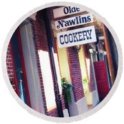 Round Beach Towel featuring the photograph Old Nawlins by Erika Weber