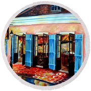 Old Opera House-new Orleans Round Beach Towel