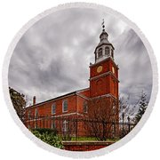 Old Otterbein Country Church Round Beach Towel