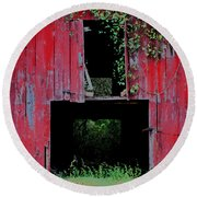 Old Red Barn IIi Round Beach Towel