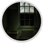 Old Room - Abandoned Asylum - The Presence Outside Round Beach Towel