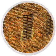 Old Roswell Manufacturing Mill Round Beach Towel