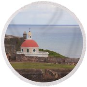 Round Beach Towel featuring the photograph Old San Juan by Daniel Sheldon