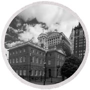 Old State House 15568b Round Beach Towel