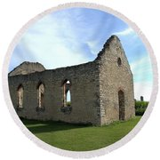 Old Stone Church 2 Round Beach Towel by Bonfire Photography