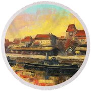 Old Torun Round Beach Towel