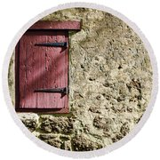 Old Wall And Door Round Beach Towel