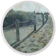 Olde Worlde Beach Round Beach Towel