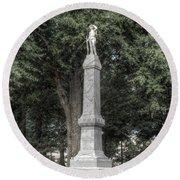 Ole Miss Confederate Statue Round Beach Towel