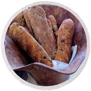 Olive Bread Round Beach Towel by Venetia Featherstone-Witty