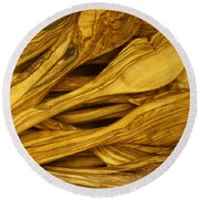 Olive Wood Round Beach Towel