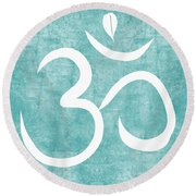 Om Sky Round Beach Towel
