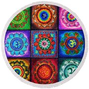Om Squared Round Beach Towel