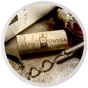 Omega Uncorked Round Beach Towel