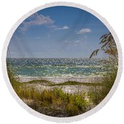 On A Clear Day Round Beach Towel by Marvin Spates