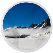 On Fox Glacier Round Beach Towel