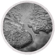 On Frozen Pond Collection 1 Round Beach Towel