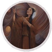 On Sacred Ground Series V Round Beach Towel