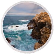 On The Cliff 2 Round Beach Towel