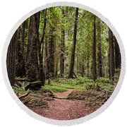 On The Enchanted Path Round Beach Towel