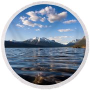 On The Lake Round Beach Towel by Aaron Aldrich