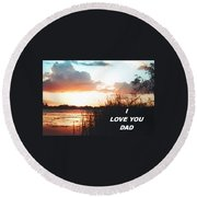 Lake Deer At Sunrise Round Beach Towel by Belinda Lee