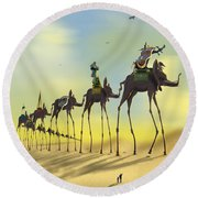 On The Move 2 Without Moon Round Beach Towel
