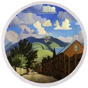 On The Road To Lili's Round Beach Towel by Art James West
