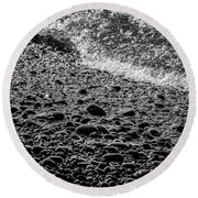 On The Rocks At French Beach Round Beach Towel