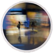 Round Beach Towel featuring the photograph On The Threshold by Alex Lapidus