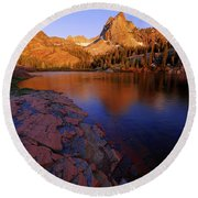 Once Upon A Rock Round Beach Towel
