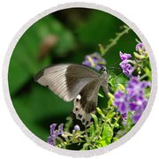 One Butterfly Is All The Magic I Need Round Beach Towel