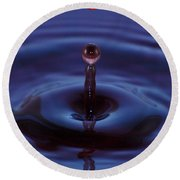 One Drop One Splash Round Beach Towel by Patrick Shupert